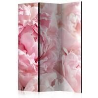 Vouwscherm - Pioenrozen, roze  135x172cm  , gemonteerd geleverd (kamerscherm)
