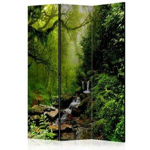 Vouwscherm - Het sprookjesbos 135x172cm, gemonteerd geleverd, dubbelzijdig geprint (kamerscherm)