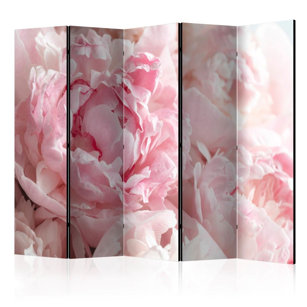 Vouwscherm - Roze pioenrozen, 225x172cm