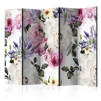 Vouwscherm - Prachtige bloemen, gemonteerd geleverd (kamerscherm)225x172 cm
