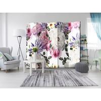 Vouwscherm - Prachtige bloemen, 225x172 cm