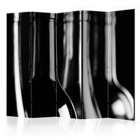 Vouwscherm - Wijnflessen, gemonteerd geleverd, dubbelzijdig geprint (kamerscherm)225x172cm