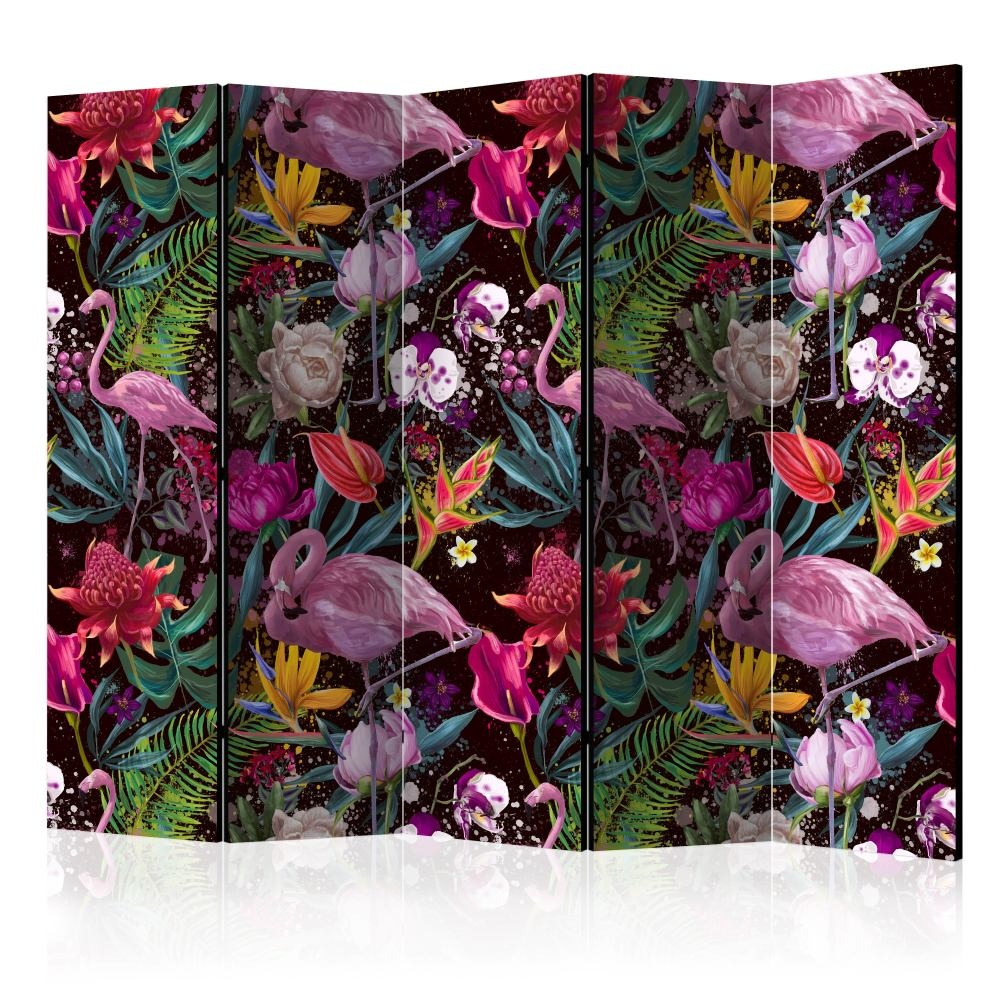 Vouwscherm - Kleurrijk Exotisch gemonteerd geleverd (kamerscherm) 225x172 cm