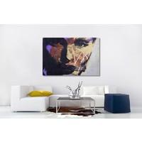 Karo-art Schilderij - Vrouw in de schaduw (op canvas geprint olieverf schilderij)
