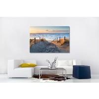 Karo-art Schilderij - Pad naar de Noordzee, 3 maten , Multikleur , Premium print