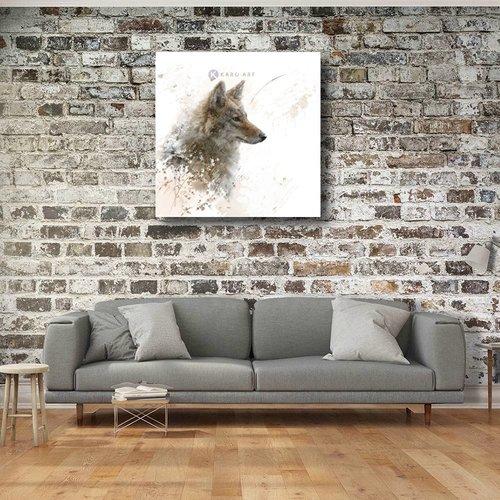Karo-art Schilderij - Wolf