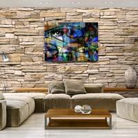 Karo-art Schilderij - Abstract modern, het oog