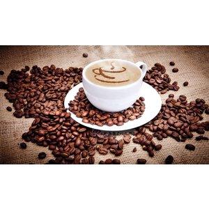 Karo-art Schilderij - Kopje koffie en bonen