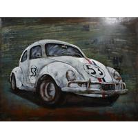 Schilderij - Metaalschilderij - Oldtimer Kever, 60x80