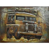 Schilderij - Metaalschilder - Op Safari, 60x80