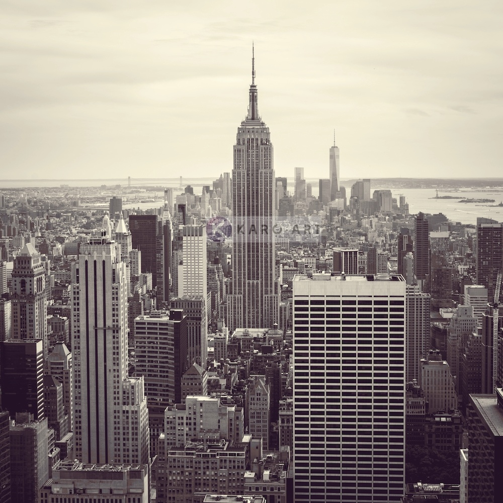 Schilderij - Empire state building, New York