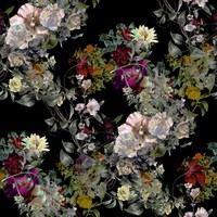 Karo-art Schilderij - Diverse bloemen, premium print van dit stilleven, 3 maten , Multikleur , Premium print