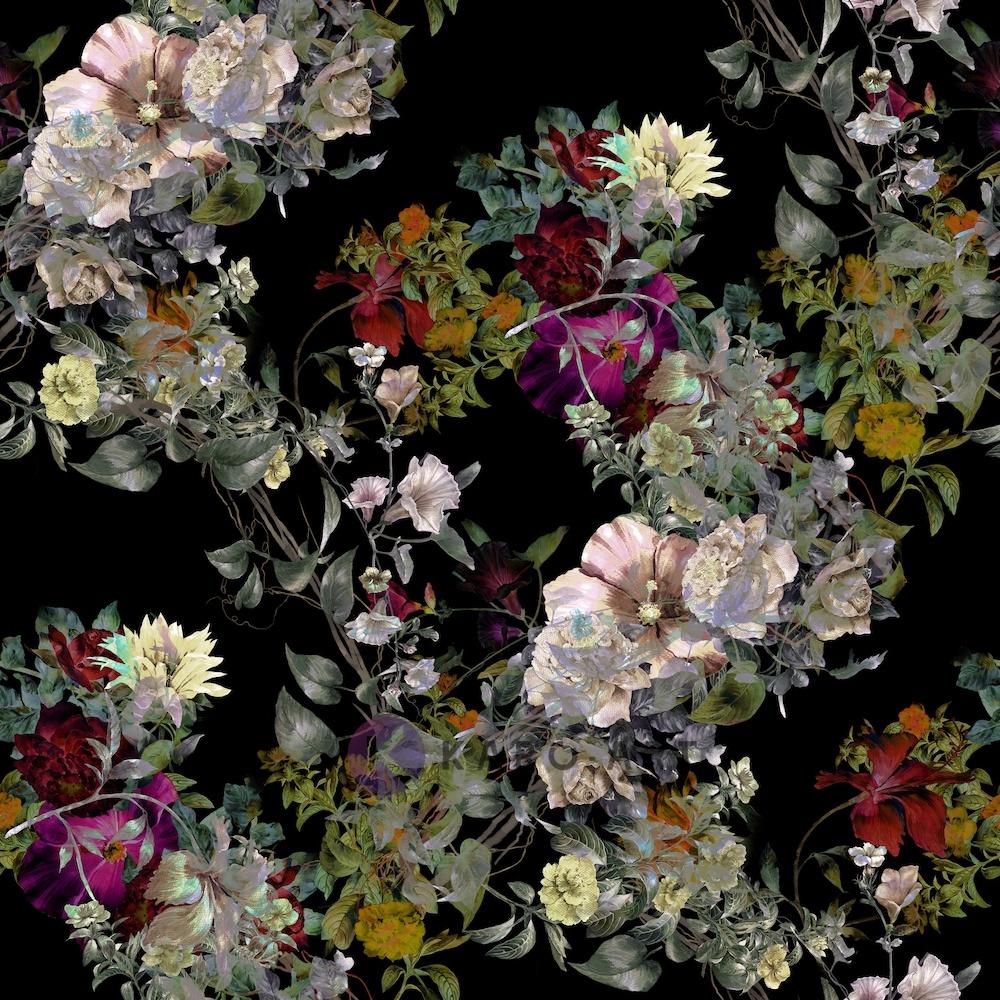 Schilderij - Diverse bloemen, premium print van dit stilleven, 3 maten , Multikleur , Premium print