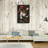 Karo-art Afbeelding op acrylglas - Stilleven met bloemen in een glazen vaas, Jan Davidsz de Heem , Multikleur , Premium print