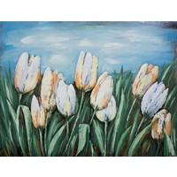 Schilderij - Metaalschilderij - Hollandse Tulpen, 60x80