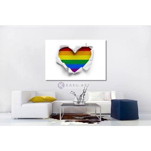 Karo-art Afbeelding op acrylglas - Gay pride, LGBT , love - regenboog