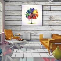 Karo-art Afbeelding op acrylglas - Gekleurde boom