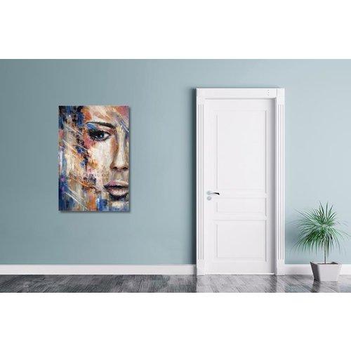 Karo-art Afbeelding op acrylglas - Vrouw in kleuren