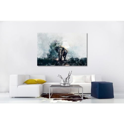 Karo-art afbeelding op acrylglas - aquarel olifant