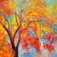 Karo-art Afbeelding op acrylglas - Park in de herfst