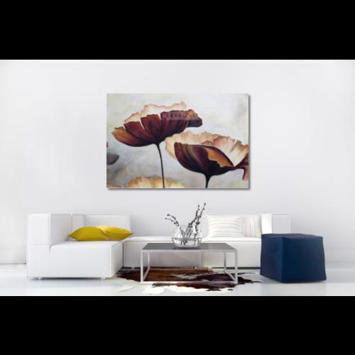 Karo-art Afbeelding op acrylglas - Klaprozen