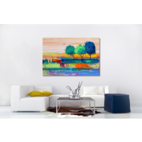 Karo-art Afbeelding op acrylglas - Gekleurde bomen