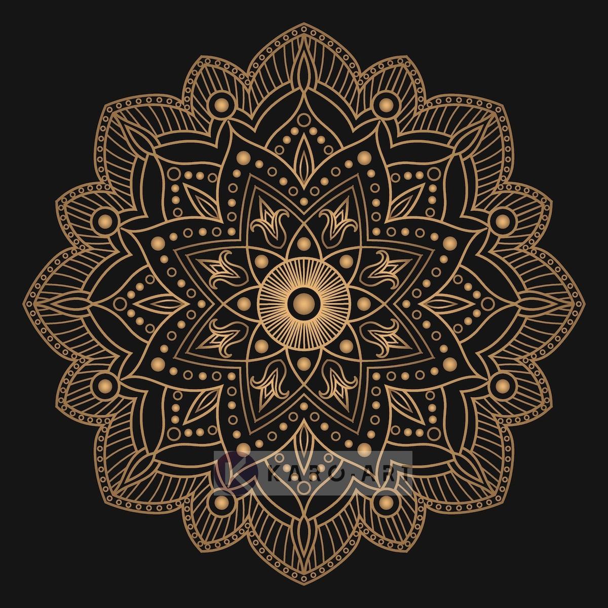 Afbeelding op acrylglas - Mandala, bruin