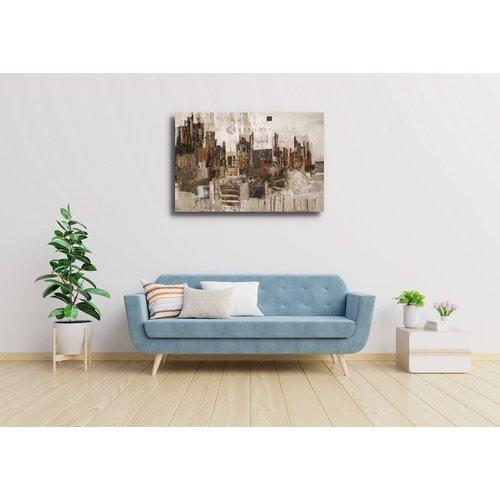 Karo-art Afbeelding op acrylglas - Stad in abstractie