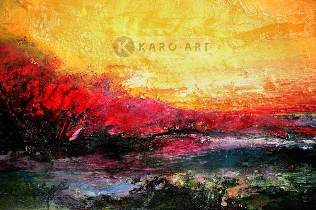 Afbeelding op acrylglas - Zonsondergang