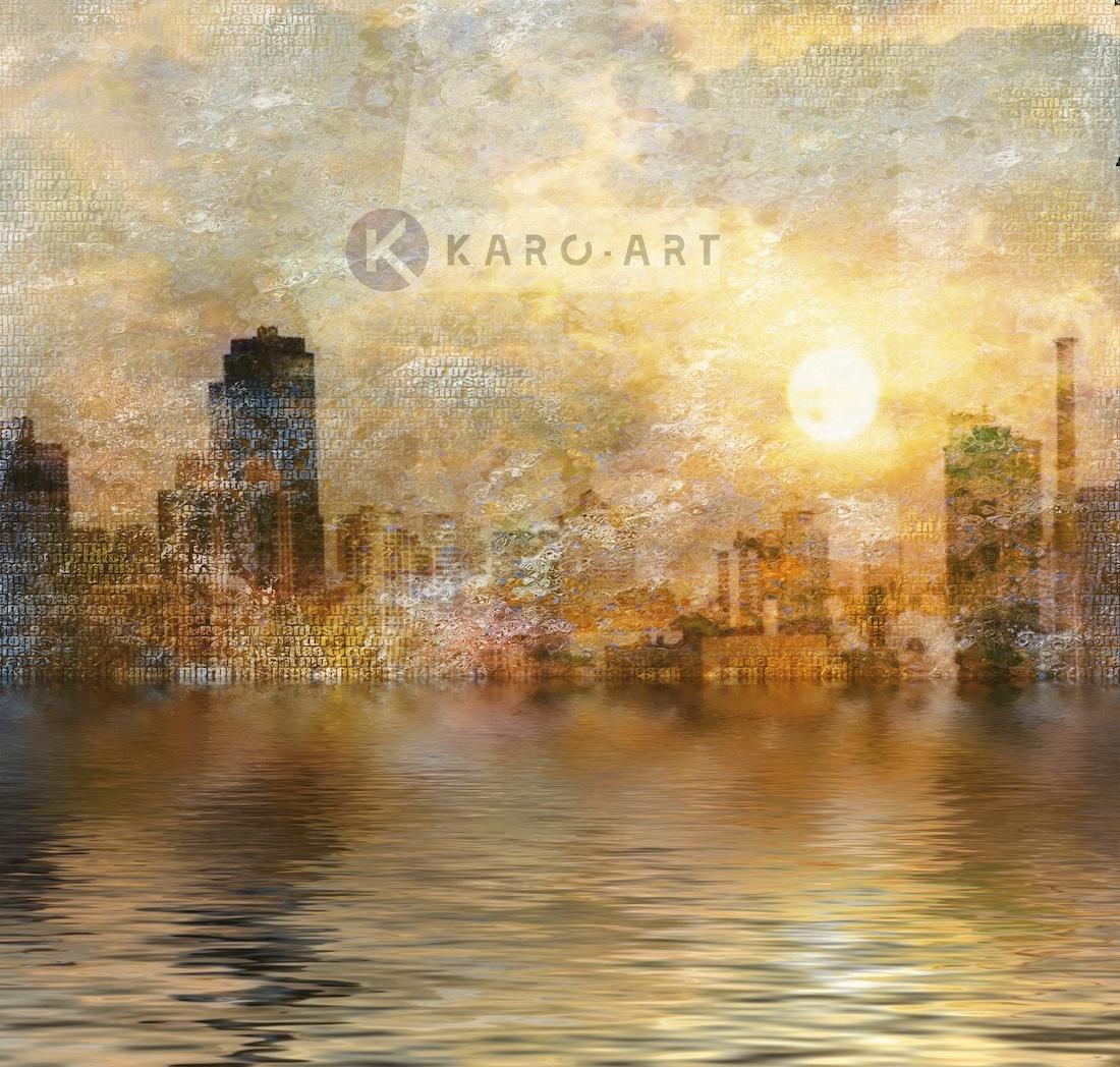Afbeelding op acrylglas - New York, digitale afbeelding op canvas