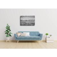Karo-art Afbeelding op acrylglas - De Noordzee en duinen in zwart en wit