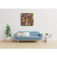 Karo-art Afbeelding op acrylglas - Zebra op de savanne