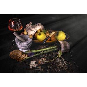 Karo-art Afbeelding op acrylglas - Stilleven, mand met fruit