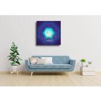 Karo-art Afbeelding op acrylglas - Mandala, ohm teken, eeuwigheid, oneindigheid en het universum