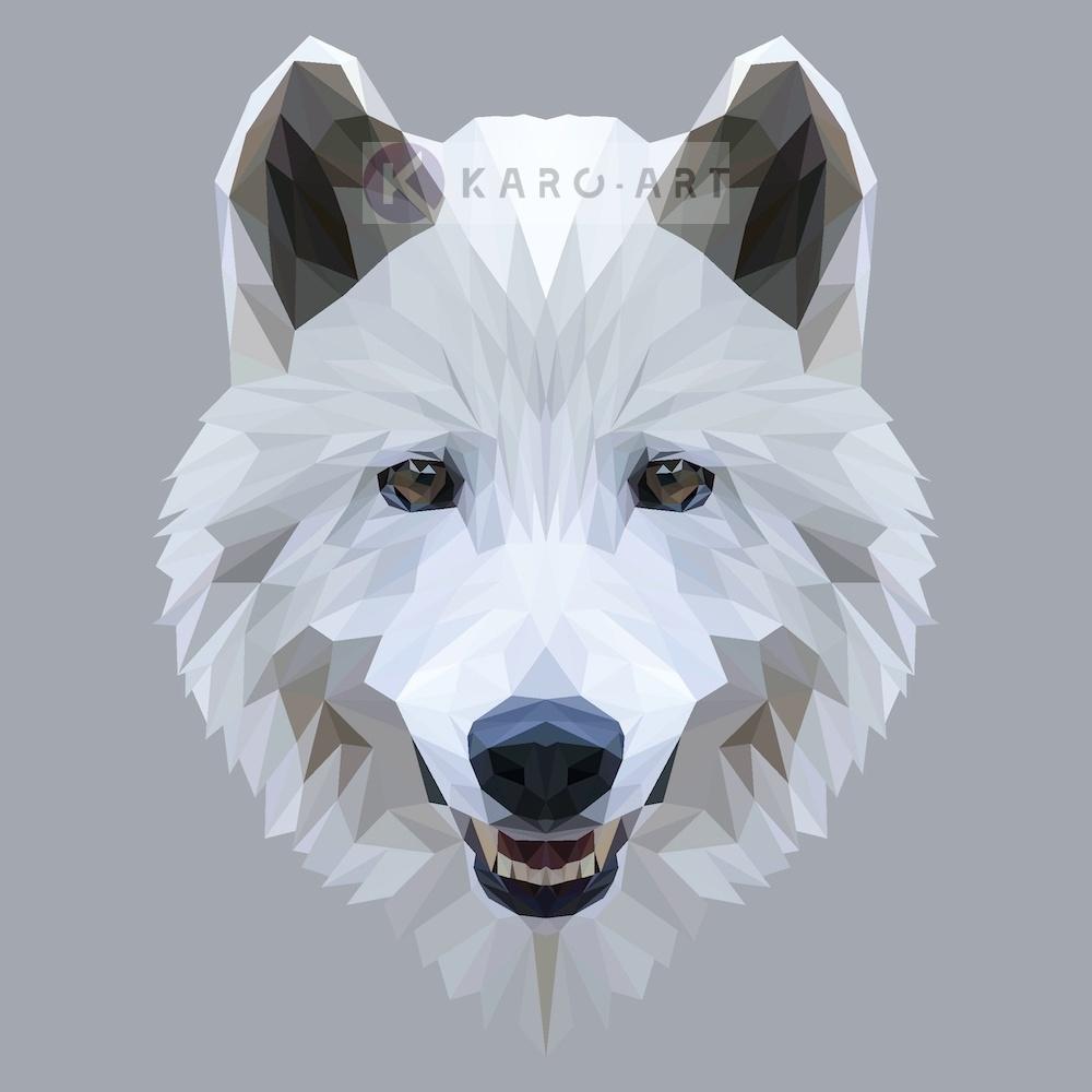 Schilderij - Wolf, digitaal
