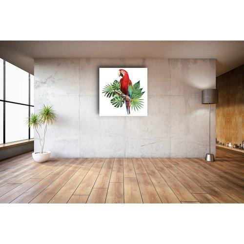 Karo-art Schilderij - Papegaai, digitaal