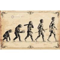 Schilderij - Concept van de evolutie