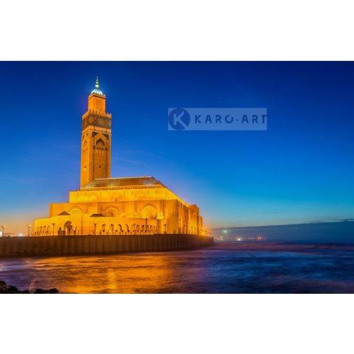 Schilderij - Hassan II moskee, Casablanca, Marokko