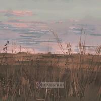 Karo-art Schilderij - Verlaten landschap (premium print op canvas), Multikleur , 3 maten , Wanddecoratie