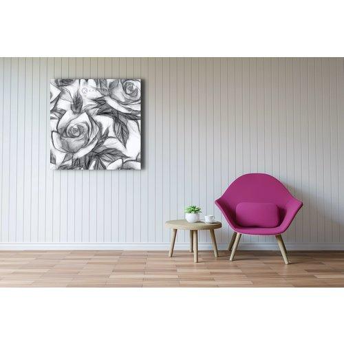 Karo-art Afbeelding op acrylglas  - Bloemmotief met rozen