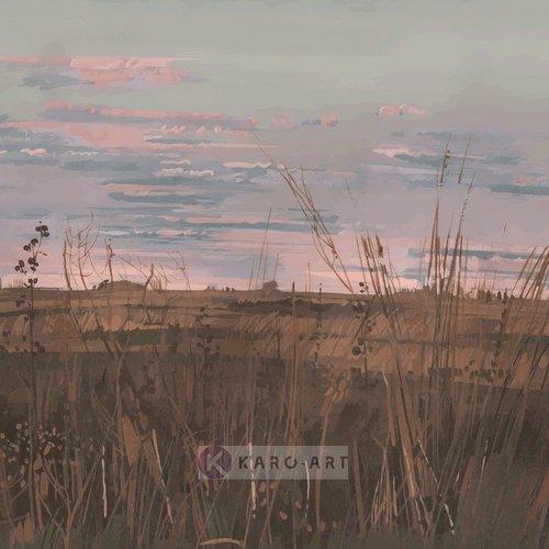 Karo-art Afbeelding op acrylglas -  Verlaten landschap , Multikleur , 3 maten , Premium print
