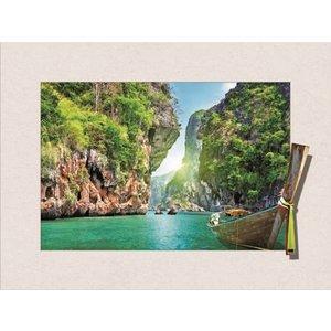 Schilderij - Thailand 3D, 30x40