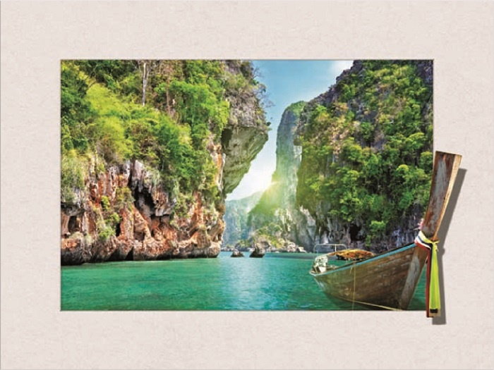 Schilderij - Thailand 3D Look, 30x40