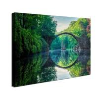 Schilderij - Weerspiegeling,Duivelsbrug  80x60