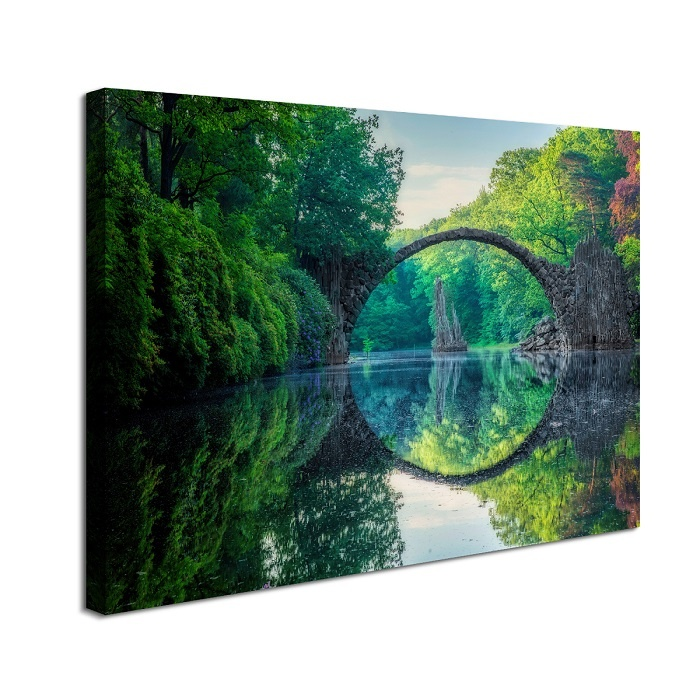 Schilderij - Weerspiegeling, 80x60