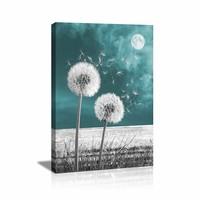 Schilderij - Paardenbloemen, 80x60, wanddecoratie, premium print