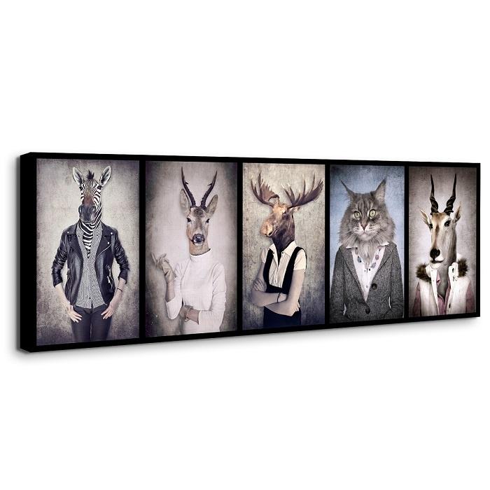 Schilderij - Menselijke dieren, 120x40