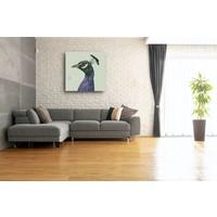 Karo-art Schilderij - Pauw