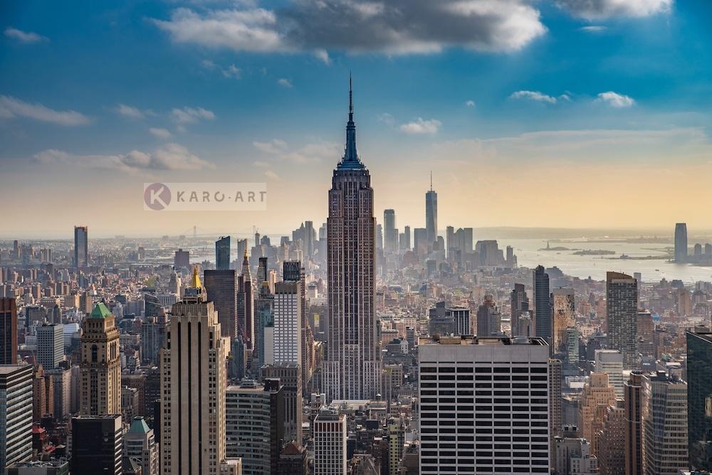 Schilderij - Empire State Building New York City , Multikleur , 3 maten , Premium print