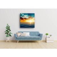 Karo-art Afbeelding op acrylglas - Zonsondergang op zee , Multikleur , 3 maten , Wanddecoratie